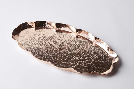 Vintage Copper Newlyn Large Oval Trays, Late 19th Century