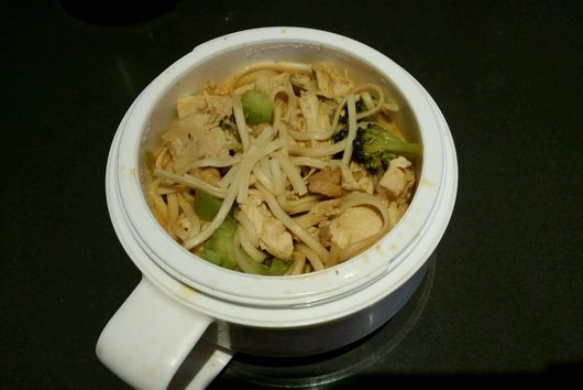 Happy Noodles (AKA Udon Noodles with Chicken and Broccoli)