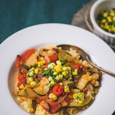RATATOUILLE WITH HERB CORN TOPPING