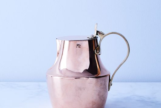 Vintage Copper French Pitcher, Late 19th Century