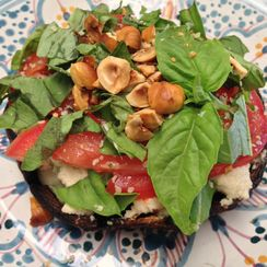 Raw Vegan Portabella Mushroom Lasagna with Artichokes and Basil