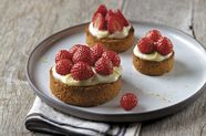 Strawberry Tartlets with Breton Shortbread Crust