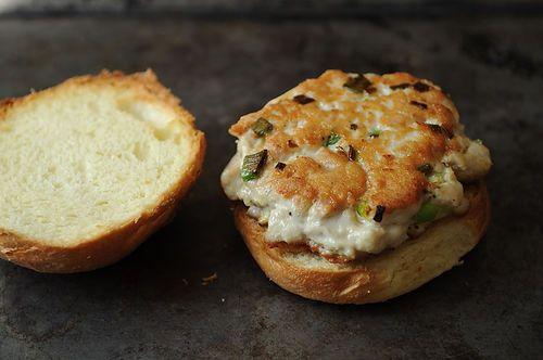 Tuna Burgers with Wasabi Ginger Mayo