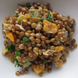 Green Lentil Salad with Herb Vinaigrette