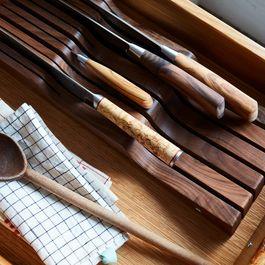 Wood In-Drawer Knife Organizer