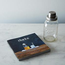 Mason Jar Shaker & Shake Book Set