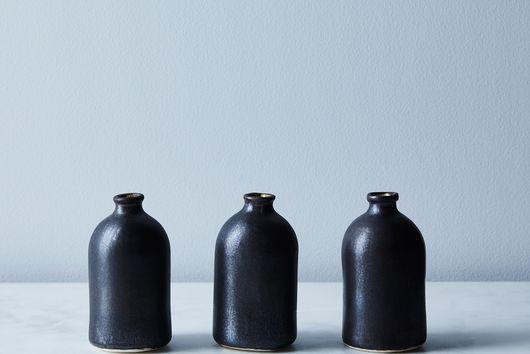 Black Porcelain Bud Vases (Set of 3)