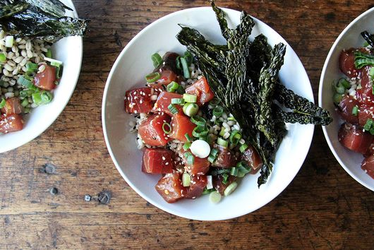 Tuna Poke with Barley and Furi-Kale