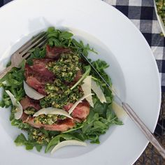 Grilled Steak Salad with Italian Salsa Verde