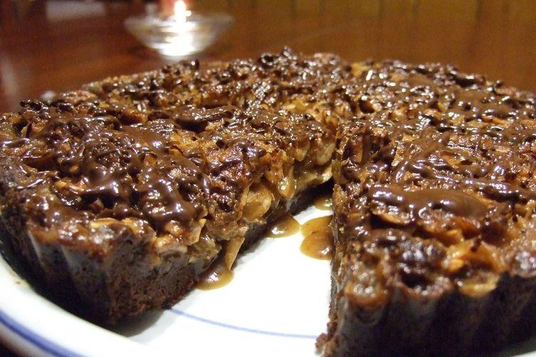 Cashew-Coconut Chocolate Tart
