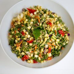 Quick Avocado Kale Salad with Sweet Lime Cumin Dressing
