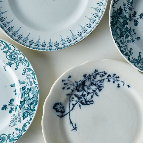 Mixed Vintage French Plates (Set of 4)