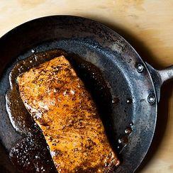 Maple-Cardamom Glazed Salmon