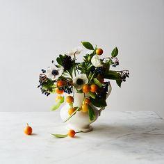 4 Ways to Make Flower Arrangements Even Prettier with Fruits & Herbs