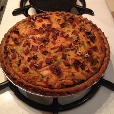 Savory Yam Pie with Spinach, Bacon, and Maple Syrup
