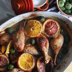 Roast Chicken with Oranges and Olives