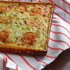 Leek and goat's cheese quiche