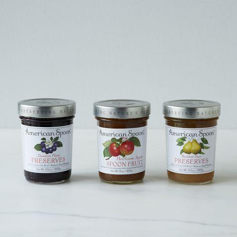 Damson Plum, Heirloom Apple & Pear Preserves (3 Jars)