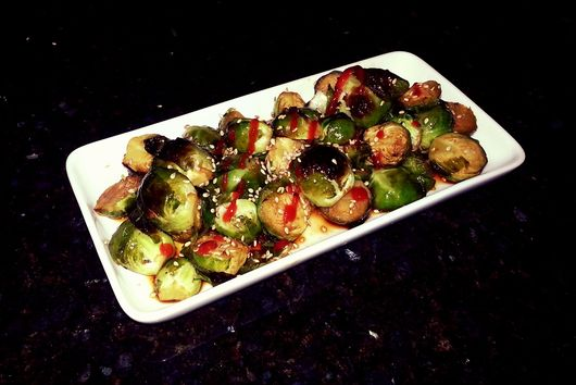 Roasted Sweet and Spicy Brussel Sprouts