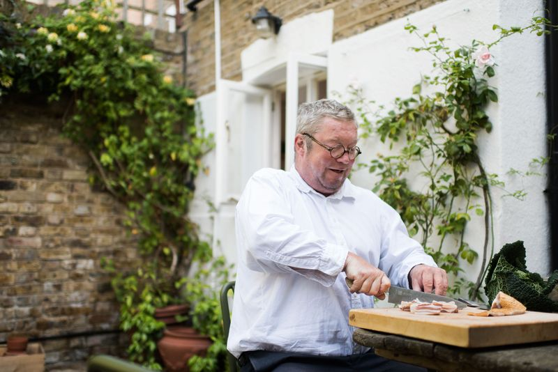 Fergus Henderson in his garden in London.