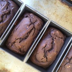 Dark Chocolate Gingerbread Pumpkin Mini-Loaves