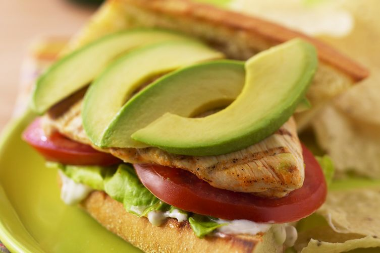 Grilled buffalo chicken and avocado sandwiches recipe on for Buffalo chicken sandwich recipe grilled