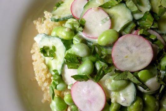 Quinoa, Edamame & Cucumber Salad