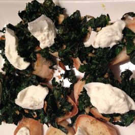 Kale and Burrata On Garlicky Toasts