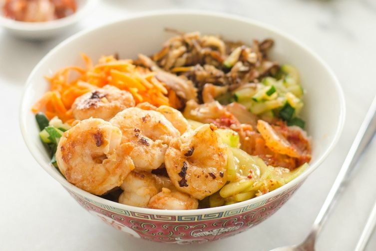 Korean Shrimp Rice Bowls