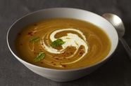 Winter Squash Soup with (Less) Red Chile and Mint