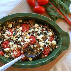 Tomato and Chard Quinoa Bake