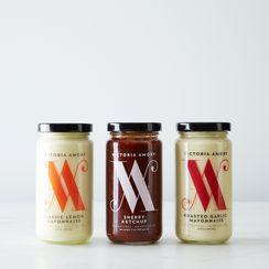 Sherry Ketchup, Lemon and Roasted Garlic Mayo Collection