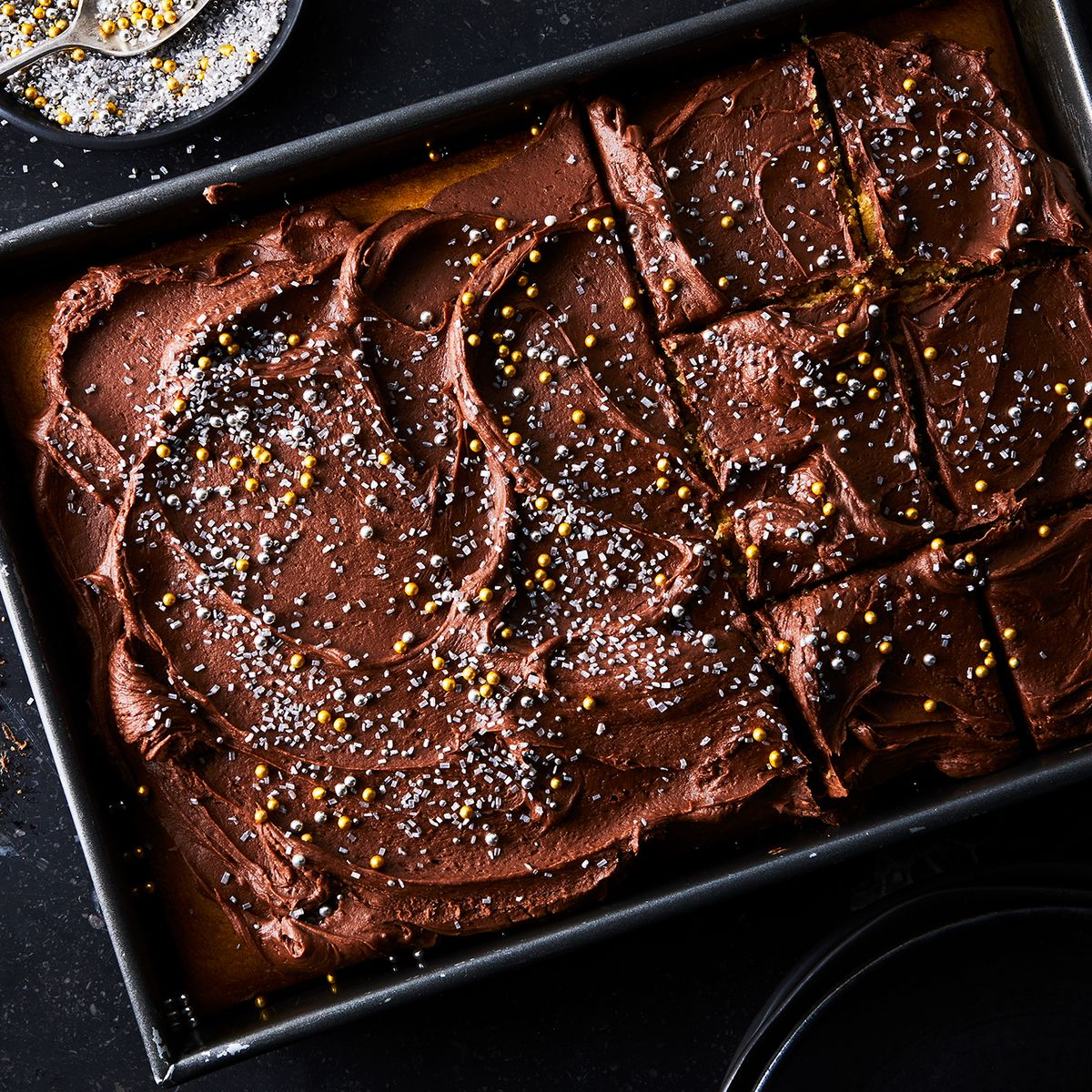 Peanut Butter Sheet Cake With Chocolate Cream Cheese Frosting Recipe On Food52