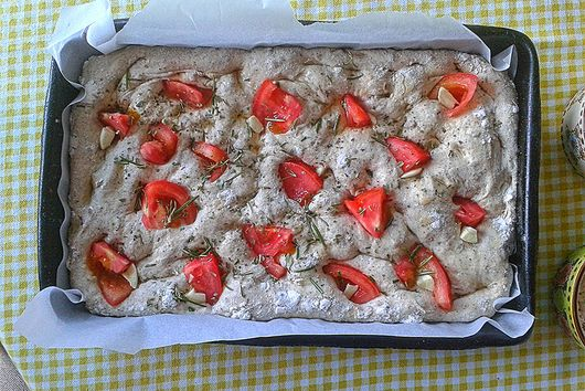 Gluten free, homemade Focaccia