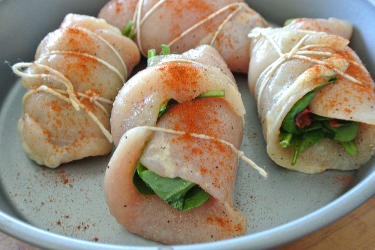 involtini di pollo con spinaci e pomodori secchi