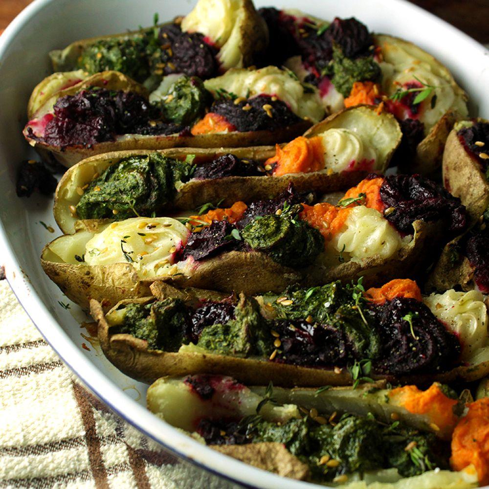 Rainbow Baked Potatoes Recipe On Food52