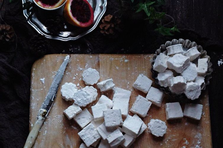 blood orange + clover honey marshmallows