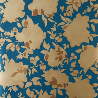 Self-Adhesive Wallpaper, Floral Silhouettes