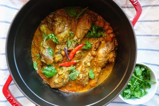 One-Pot Roasted Chicken Curry with Chickpeas & Coconut