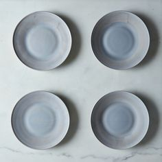 Grey Swirl Glass Dinner & Cake Plates (Set of 4)