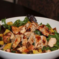 ASIAN CHICKEN SALAD WITH GRILLED PINEAPPLE