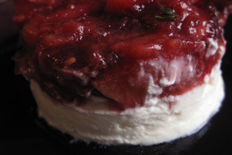 Spiced Plum Cheese Round