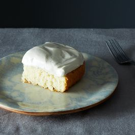 Grandma's White Cake with Maple Syrup Frosting
