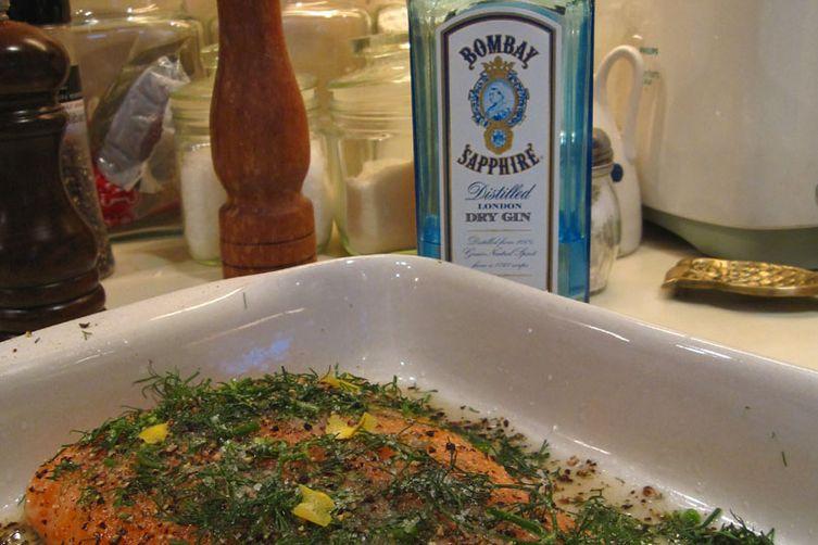 Bombay Sapphire gravlax