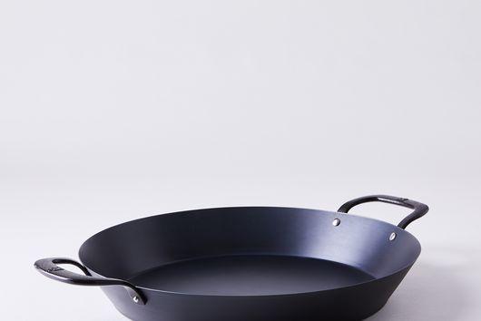 """BK Steel Carbon Steel Paella Pan, 15"""""""