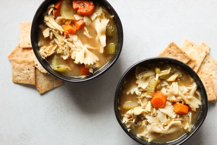 Delicious and Warming Chicken Noodle Soup