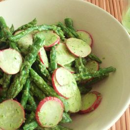 Asparagus & Radish Salad with Spring Herb Dressing