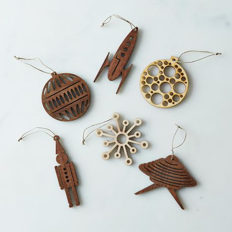 Precision-Cut Wood Ornament Sets