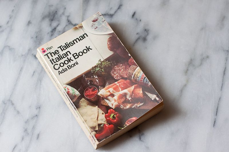 "Ada Boni's ""Talisman Italian Cook Book"" (the 1975 London edition)."