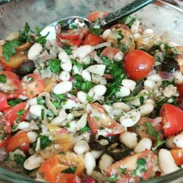 Greek Inspired White Bean Tuna Salad